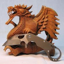 Medford Knife & Tool Burung, D2 Vulcan Blade, Ti Handle/Lock Bronze Ano, front