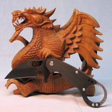 Medford Knife & Tool Burung, Black PVD D2 Blade, Black PVD Ti Handle/Lock, front