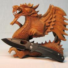 Medford Knife & Tool, Infraction, Black PVD 3V Blade, PVD Coated Lock Side, front
