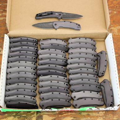 Kershaw Link, Gray Aluminum Handle, BlackWash Blade, 1776GRYBW all