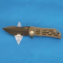 Custom Darrel Ralph, Dominator Ventilator Patriot, S35VN Tanto Blade front