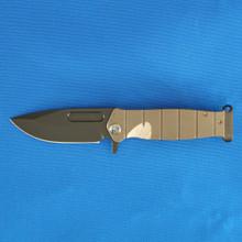 Medford Knife & Tool, USMC Flipper, S35VN Black PVD Blade front