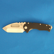 Medford Knife & Tool Praetorian G, S35VN Tumbled Blade, Black G10/Ti Tumbled Handle front