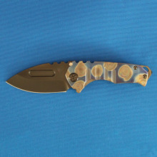 Medford Knife & Tool Praetorian Genesis T, S35VN PVD Blade, ANO Blue Flame Handle, PVD Hardware front
