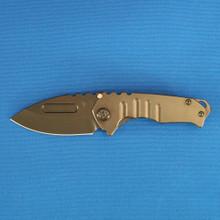 Medford Knife & Tool Praetorian Geneses T, S35VN PVD Blade, PVD Handles, Hardware, Clip & Breaker front