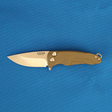 Medford Knife & Tool Smooth Criminal, S35VN Tumbled Blade, OD Green Handle front