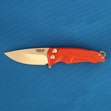 Medford Knife & Tool Smooth Criminal, S35VN Tumbled Blade, Red Handle front