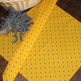 Ramatuelle Yellow / Red  French Serviette Napkin Made in France
