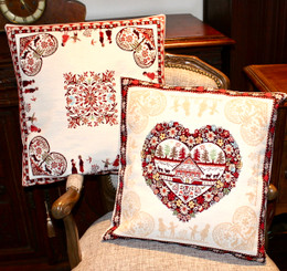 Montagne Ecru Double Sided French Jacquard Cushion Cover Made in France