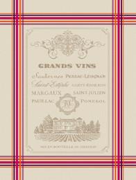 GRANDS VINS Jacquard Tea Towel Made in France