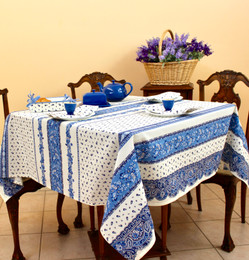 Marat Tradition White Square FrenchTablecloth 150x150cm Made in France