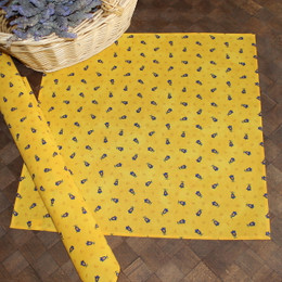 Marat Tradition Yellow French Serviette Napkin Made in France