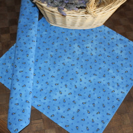 Marat Tradition Blue French Serviette Napkin Made in France
