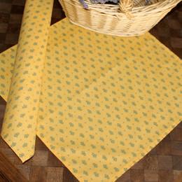 Marat Manoir Yellow French Serviette Napkin Made in France