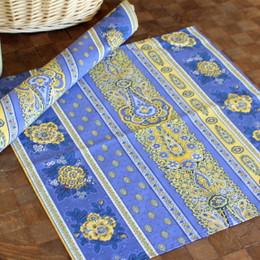 Marat Avignon Bastide Blue French Serviette Napkin Made in France