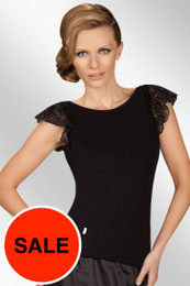 Otylia Black Top Made in Poland