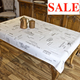 Carte des Vins Lin 155x120cm  4-6Seats Small Tablecloth Made in France