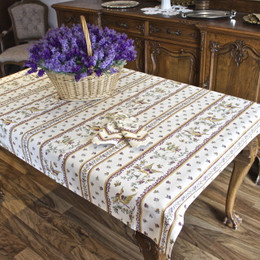 Moustiers Red 155x120cm  4-6Seats Small Tablecloth Made in France