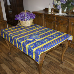Cicada 155x120cm  4-6Seats Small Tablecloth COATED Made in France