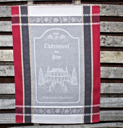 Vignoble Grey Jacquard Tea Towel Made in France