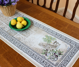 Riviera 50x165cm French Thick Jacquard Tapestry Style Runner Made in France