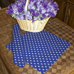 Marat Avignon Blue allover French Serviette Napkin Made in France