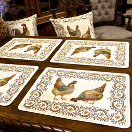Chanteclair French Jacquard Tapestry Style Placemat Made in France