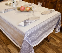 Olivia Lin 160x350cm 12Seats Jacquard French Tablecloth Made in France