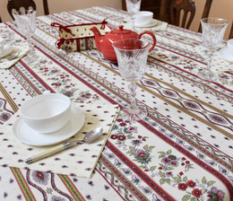 Marat Avignon Ecru 155x350cm 12Seats French Tablecloth Made in France