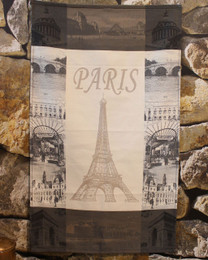Paris Taupe  Kitchen French  Tea Towel Made in France