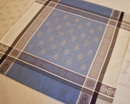 Vaucluse Blue French Jacquard Napkin Made in France