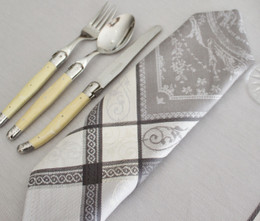 Versaille Pearl French Jacquard Napkin Made in France