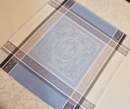 Versaille Blue French Jacquard Napkin Made in France
