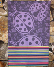 Coccinelle Violet French Tea Towel Made in France