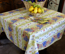 Lavener&Roses Square Tablecloth 150x150cm Made in France