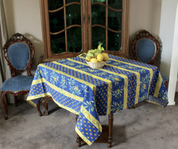 Cicada Square Tablecloth 150x150cm Made in France