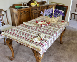 Marat Avignon Ecru155x120cm Small Tablecloth COATED Made in France
