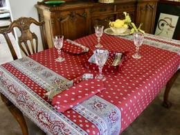 Marat Avignon Bastide Red155x120cm 4-6Seats Small Tablecloth Made in France