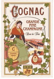 Cognac French Tea Towel Made in France