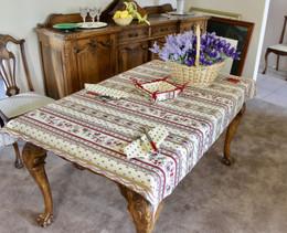 Marat Avignon Ecru 155x120cm  4-6Seats Small Tablecloth Made in France