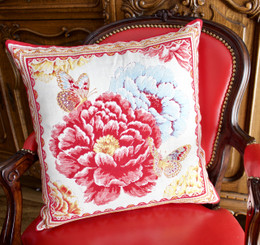 Spring-French Jacquard Cushion Cover Made in France