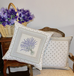 Castillon-French Jacquard Cushion Cover Made in France