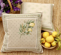 Menton-French Jacquard Cushion Cover Made in France