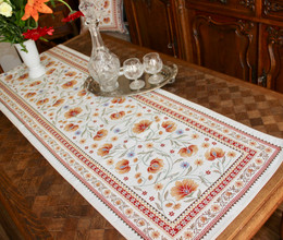 Sillans Rust 49x160cm French Thick Jacquard Tapestry Style Runner Made in France
