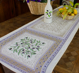 Luberon 49x165cm French Thick Jacquard Tapestry Style Runner Made in France
