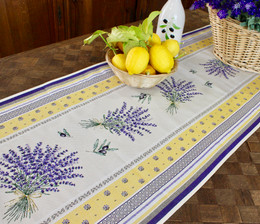 Castillon Yellow 49x162cm French Thick Tapestry Style Jacquard Runner Made in France