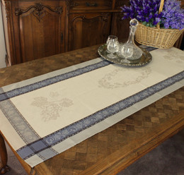 Vignoble Lin 52x150cm French Jacquard Table Runner Made in France