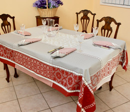 Marius Rust Jacquard French Tablecloth 160x250cm 8seats Made in France