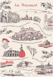 La Provence Tea Towel Made in France