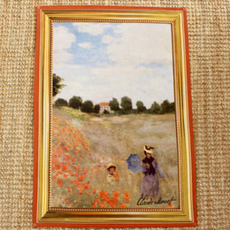 Monet Coquelicot Tea Towel Made in France